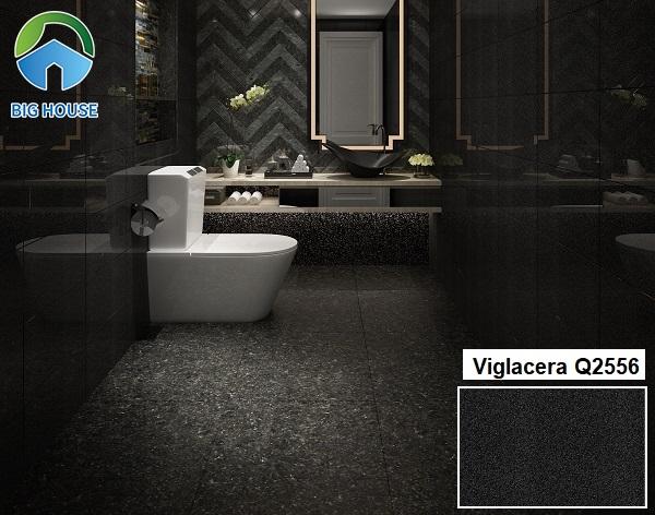 Viglacera Q2556 là mẫu gạch ốp tường giả đá hoa cương màu đen thích hợp với các gia chủ có phong cách mạnh mẽ và lịch lãm