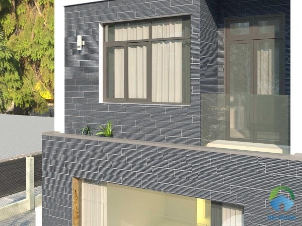 Mẫu gạch có thiết kế bề mặt gồ ghề mang đến nét đẹp phong trần và cổ điển cho các kiến trúc