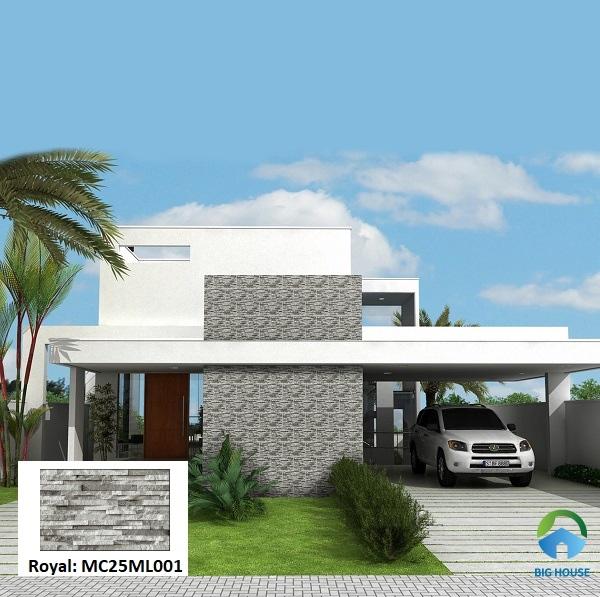 Royal MC25ML001 giả đá, định hình là một lựa chọn tuyệt vời để ốp mặt tiền nhà