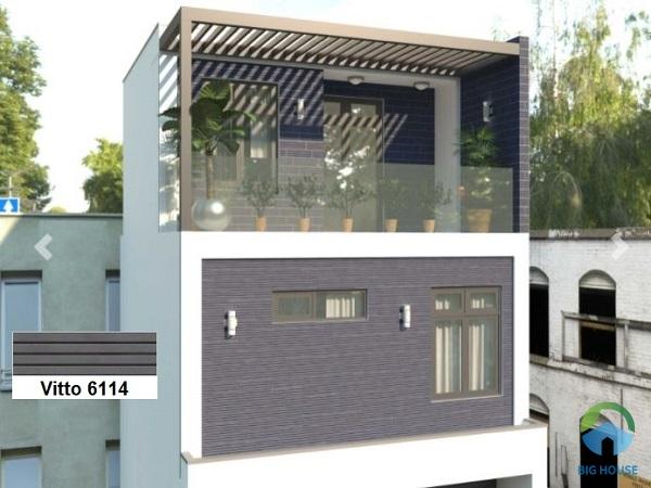 Tạo điểm nhấn cho mặt tiền nhà bằng mẫu gạch Vitto 6114