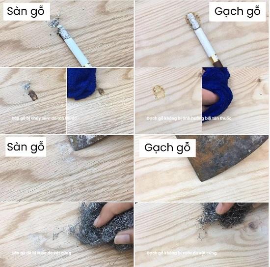 So sánh gạch giả gỗ Bạch mã và gỗ tự nhiên