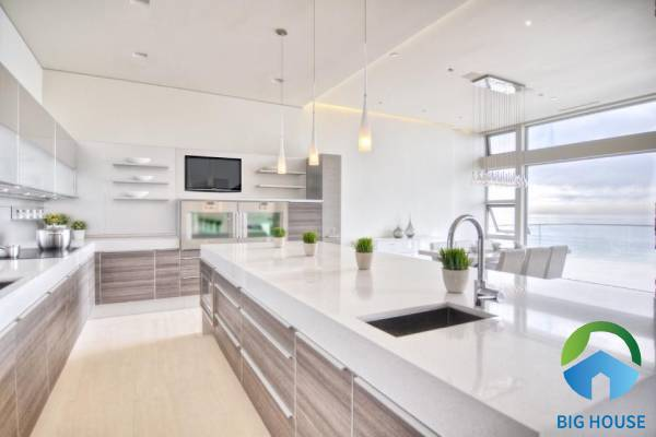 Nguyên tắc chọn gạch lát mặt bếp có bề mặt dễ vệ sinh
