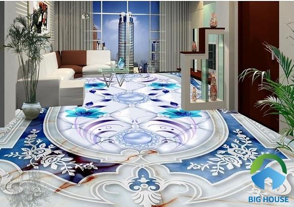 Thêm một mẫu gạch 3D bạn có thể tham khảo lát nền phòng khách