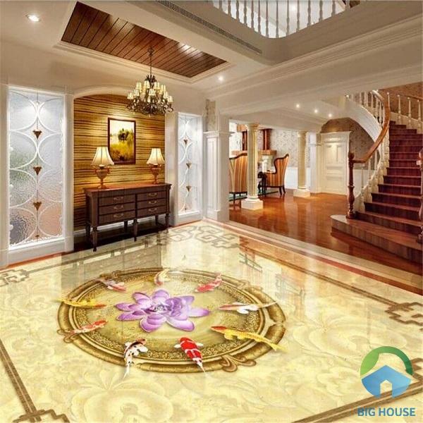 99+ Mẫu Gạch Lát Nền 3D Phòng Khách Đẹp Cuốn Hút 2021