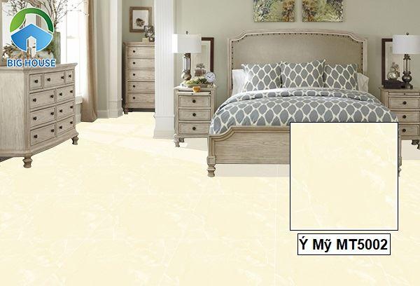 Phòng ngủ ấm áp với mẫu gạch Ý Mỹ MT5002 vàng nhạt, men bóng.