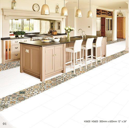 Gạch lát nền Bạch mã cho nhà bếp