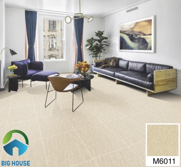 Gạch lát nền phòng khách 60x60 Bạch Mã M6011
