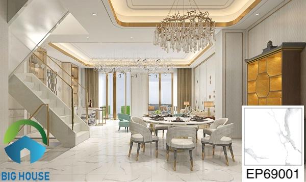 Gạch lát nền phòng khách 60x60 Ý Mỹ EP69001