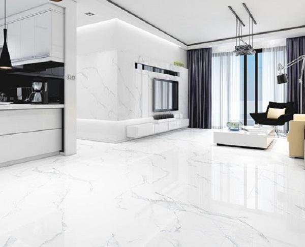 Gạch lát nền phòng khách 80x80 được ứng dụng nhiều nhất với những không gian lớn