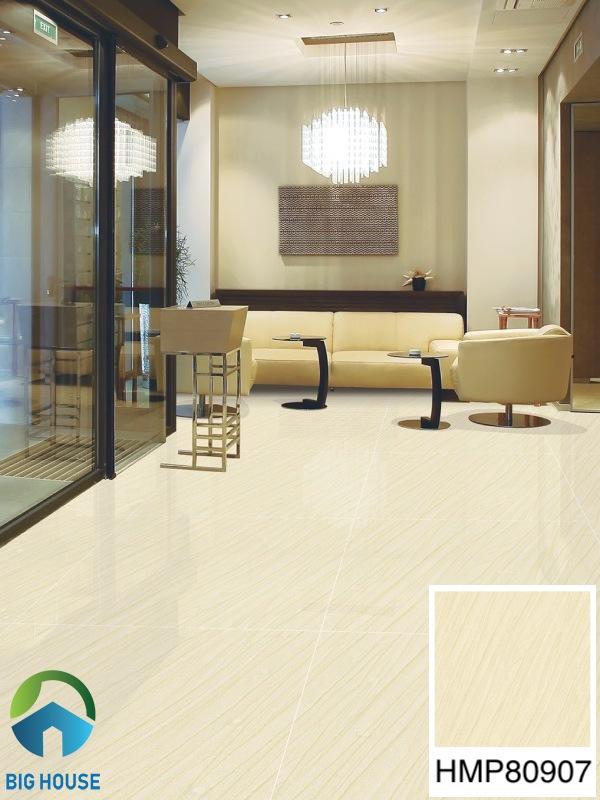Gạch lát nền phòng khách 80x80 Bạch Mã HMP80907