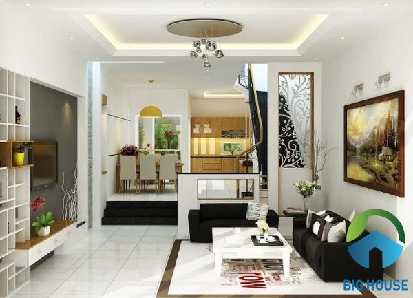 TIP chọn gạch lát nền phòng khách nhà ống đạt thẩm mỹ