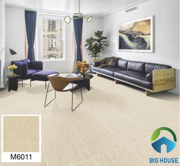 Gạch lát nền phòng khách nhà ống Bạch Mã M6011