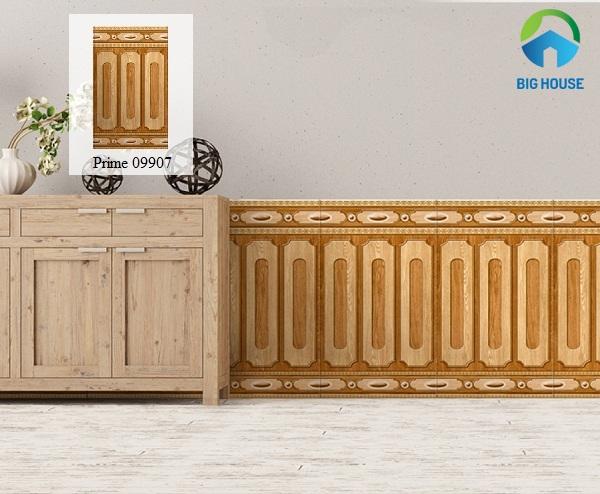 gạch ốp chân tường giả gỗ prime 09907