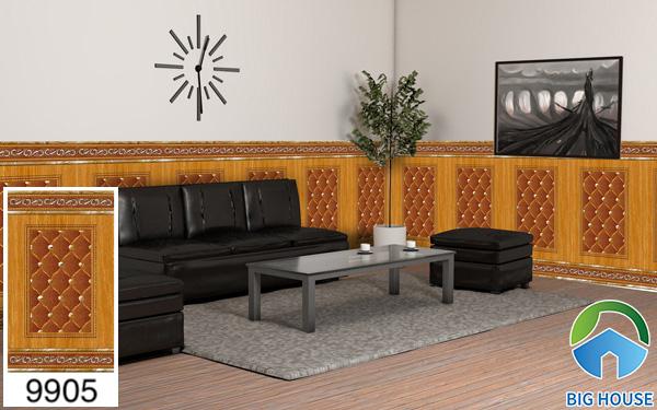 Gạch ốp chân tường phòng khách Hoàn Mỹ 9905
