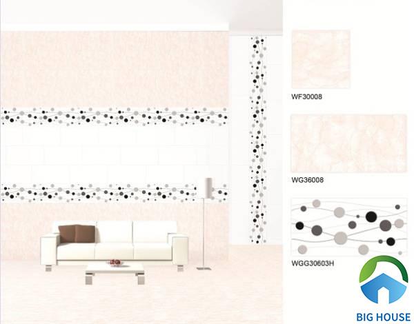 Gạch ốp chân tường phòng khách Bạch Mã WGG30603H