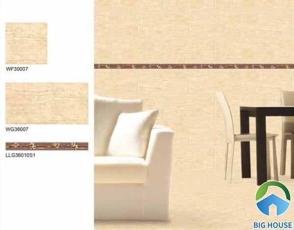 Gạch ốp chân tường phòng khách Bạch Mã LLG36010S1