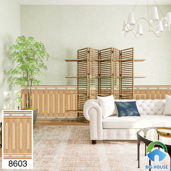 Gạch ốp chân tường phòng khách Tasa 8603
