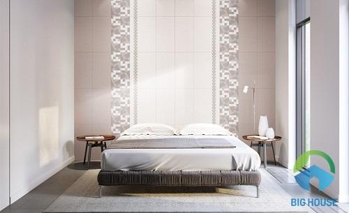 gạch ốp tường phòng ngủ kích thước hẹp