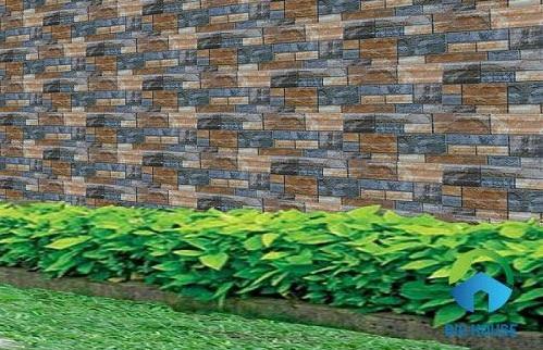 gạch ốp tường hàng rào sân trước