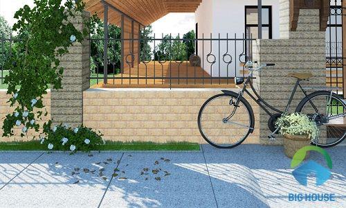 gạch ốp tường hàng rào nhẹ nhàng, tinh tế