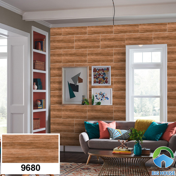 Gạch ốp tường phòng khách nhà cấp 4 Prime 9680