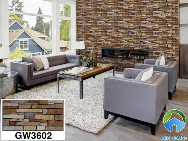Gạch ốp tường phòng khách nhà cấp 4 Viglacera GW3602