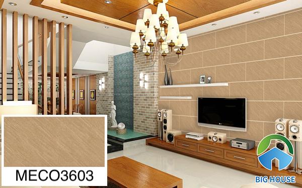 Gạch ốp tường phòng khách nhà ống vân đá Mikado MECO3603