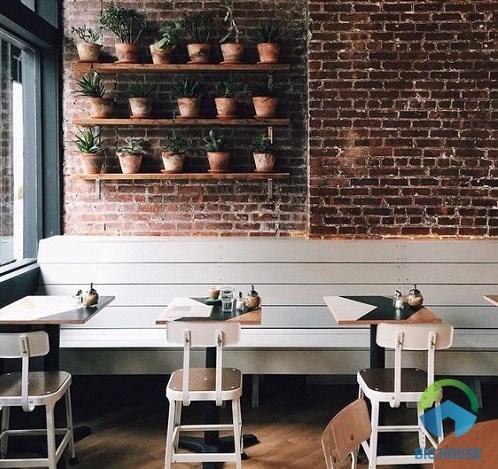 mẫu gạch ốp tường quán cà phê