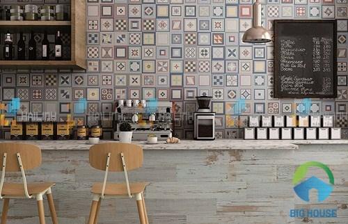 gạch bông ốp quán cà phê ấn tượng