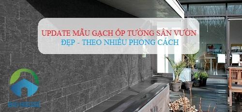 Top mẫu gạch ốp tường sân vườn Đẹp nhất cho Sân trước, sau nhà