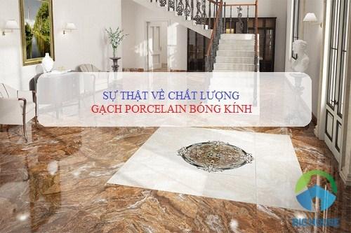 Gạch porcelain bóng kính là gì? Đánh giá Chất lượng theo nhiều khía cạnh