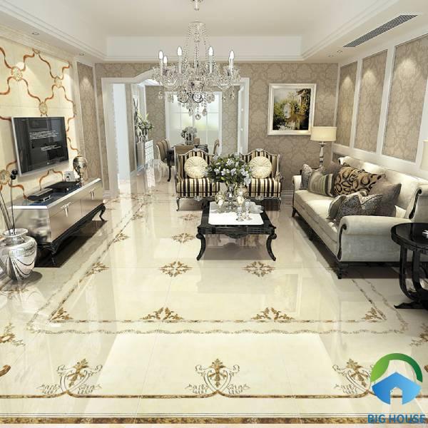 Gạch thảm lát nền phòng khách - tính ứng dụng trong không gian