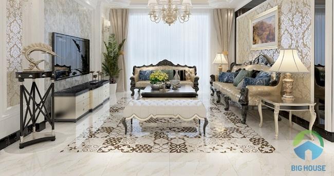 Gạch thảm trang trí thường được làm từ chất liệu granite cao cấp