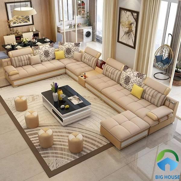 Gạch thảm lát nền phòng khách hoa văn đơn giản
