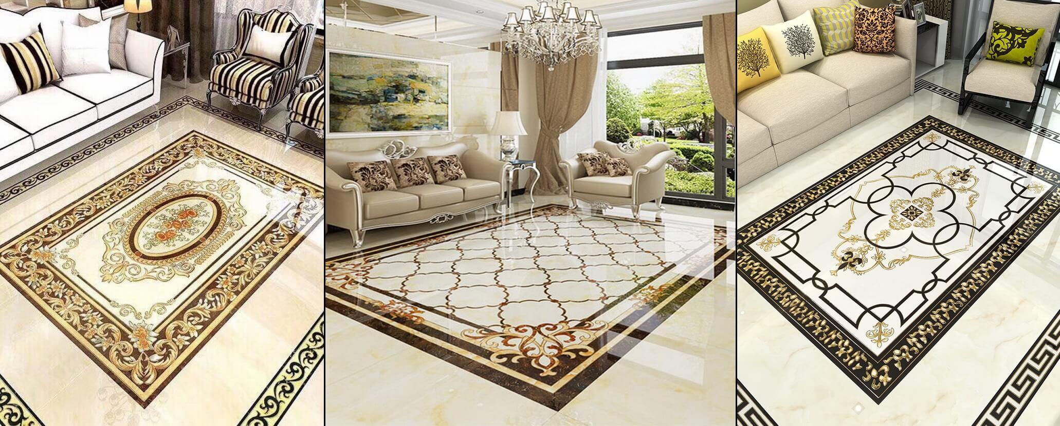 Cập nhật các mẫu gạch thảm lát nền phòng khách mới nhất trên thị trường hiện nay