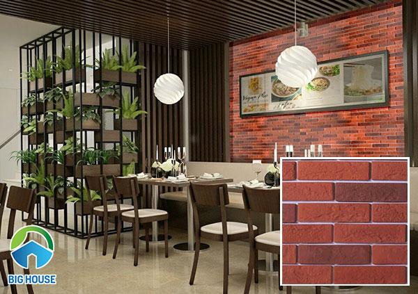 Ấn tượng với quán ăn mang đậm phong cách cổ điển với nội thất gỗ nâu trầm cùng bức tường ốp gạch thẻ giả cổ NPGC004 22 x 6 x 1cm