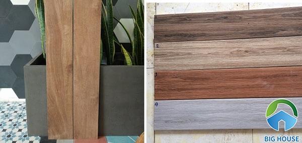 Các mẫu gạch thẻ họa tiết giả gỗ