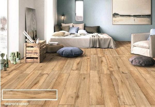 gạch thẻ giả gỗ ấn độ lavis tông màu nâu trung tính