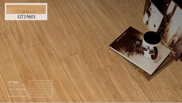 gạch thẻ giả gỗ viglacera màu nâu cam đơn giản