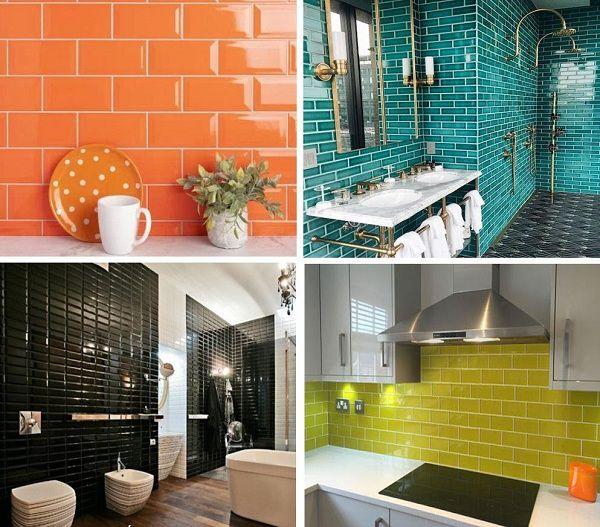 Gạch thẻ ốp tường có sự đa dạng về màu sắc