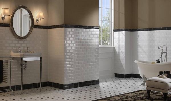 Cách ốp lửng giúp mang lại vẻ đẹp độc đáo hơn cho khu vực phòng tắm