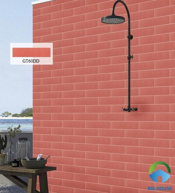 Bạn có thể lựa chọn gạch thẻ Viglacera GT60DD ốp tường bao
