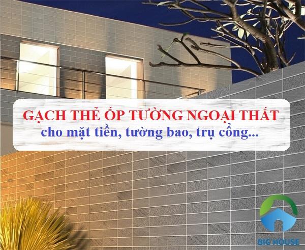 Top 30 mẫu gạch thẻ ốp tường ngoại thất Đẹp Cuốn Hút 2021
