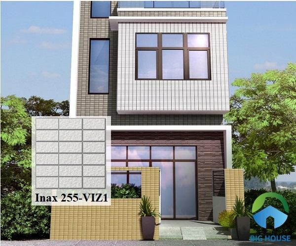 Chọn gạch Inax 255/VIZ - 1 ốp mặt tiền nhà mang vẻ đẹp sang trọng, hiện đại