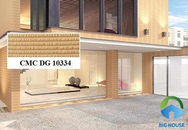 Gợi ý mẫu gạch CMC DG 10334 tone màu cam gạch ốp mặt tiền nhà rất đẹp