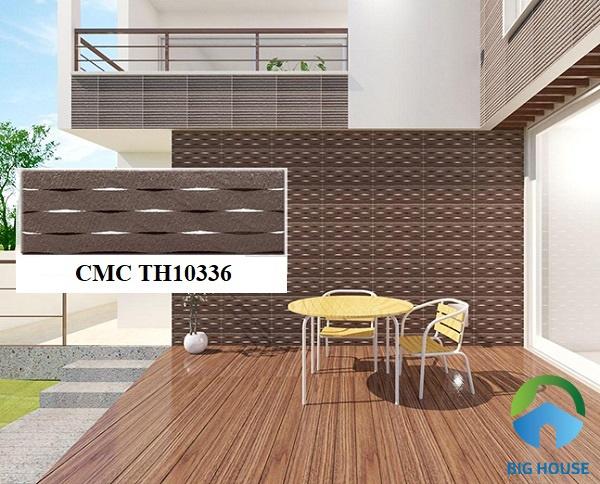 Gạch CMC TH10336 sở hữu kích thước 10x33 với tone nâu trầm ấm
