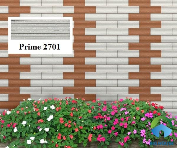 Mẫu gạch thẻ Prime 2701 tone màu xám đá ốp tường ngoài trời rất đẹp