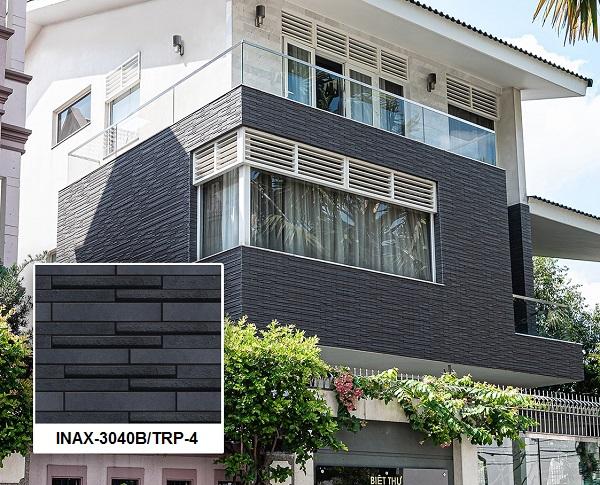 Không chỉ khu vực nội thất, mà khu vực ngoại thất cũng được trang trí bằng mẫu gạch thẻ đẹp. Inax-3040B/TRP-4 đang là một trong những xu hướng trang trí được thịnh hành nhất trên thị trường hiện nay.