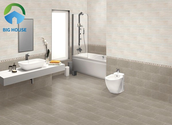 Mẫu gạch điểm Viglacera KV02 ốp tường phòng tắm mang vẻ đẹp thanh lịch, sang trọng nhưng cũng rất trẻ trung