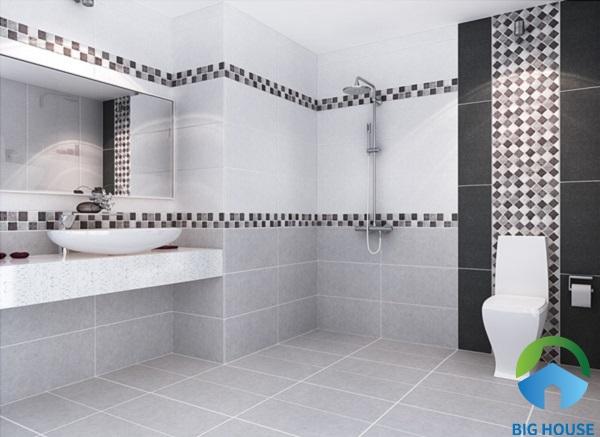 Sử dụng các bộ gạch ốp đậm - điểm - nhạt ốp viền tường trang trí tạo ấn tượng sâu sắc